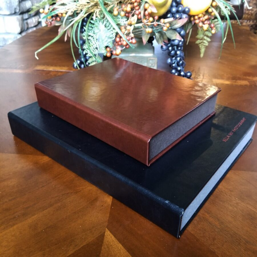 handcrafted folio box for portrait photography